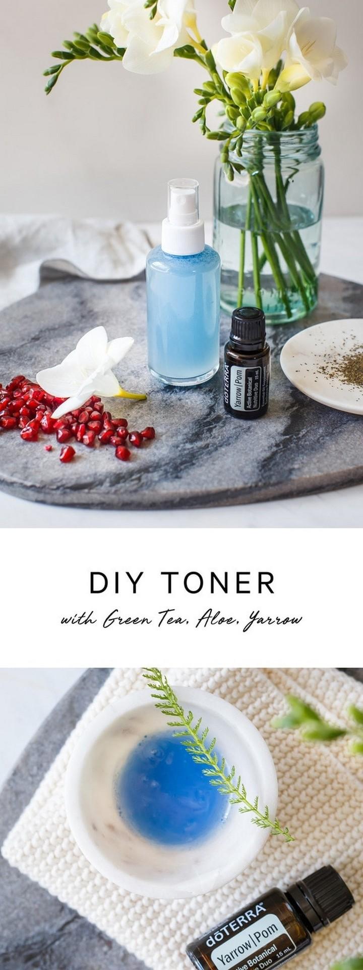 DIY Toner with Green Tea Aloe and Yarrow