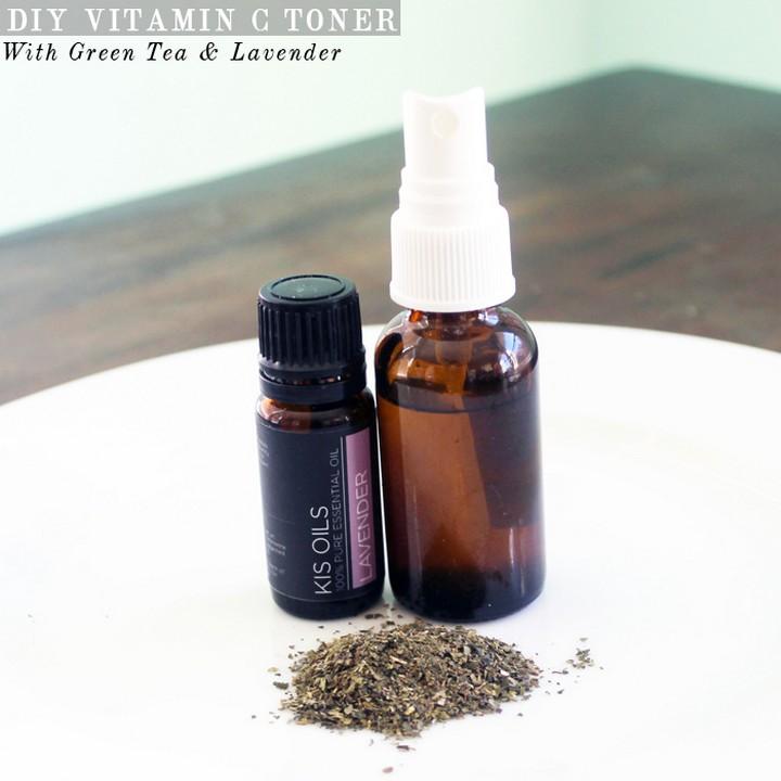 DIY Vitamin C Toner With Green Tea Lavender