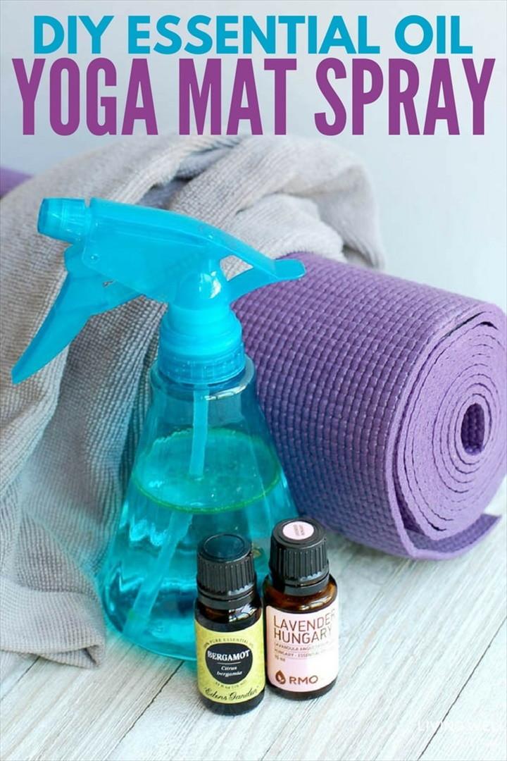 DIY Yoga Mat Spray With Essential Oils