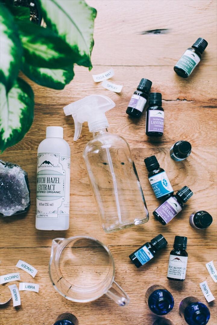 DIY Zodiac Yoga Mat Spray with Essential Oils
