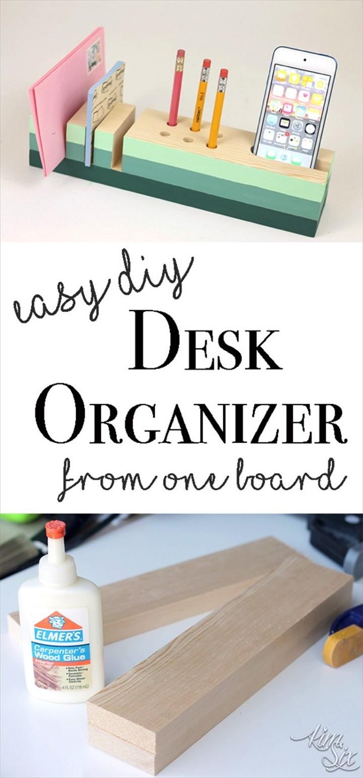 Desk Organizer from a Single 1x3 Board