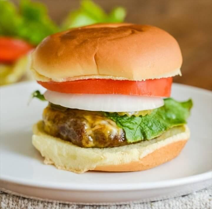 Easy Air Fryer Cheeseburgers