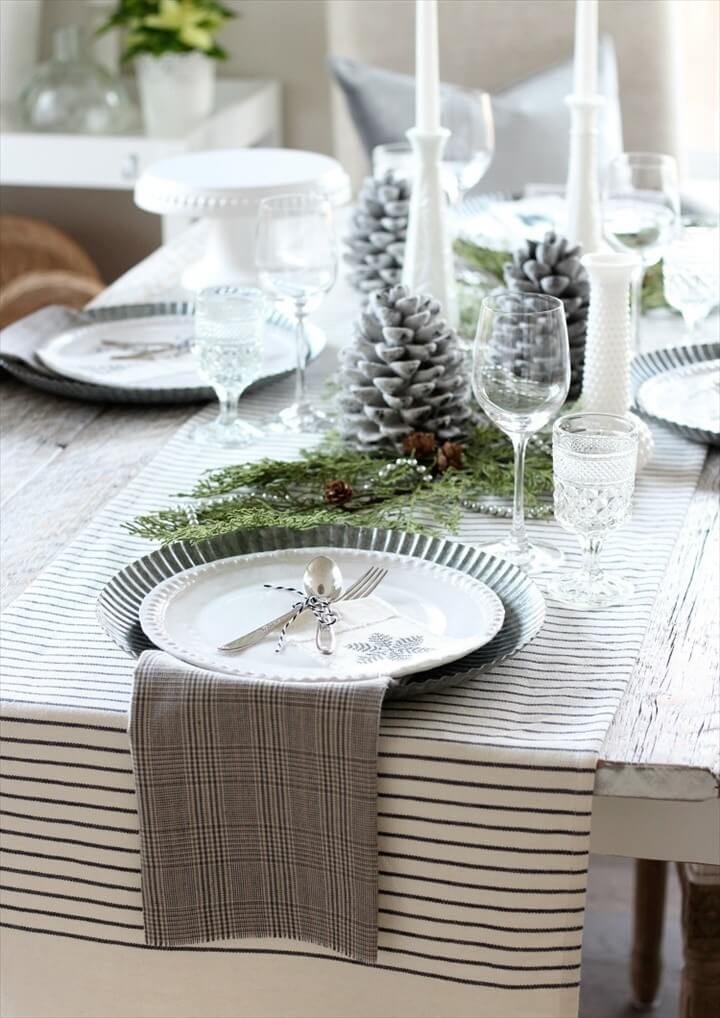 Easy Fringe Napkins for Your Holiday Table