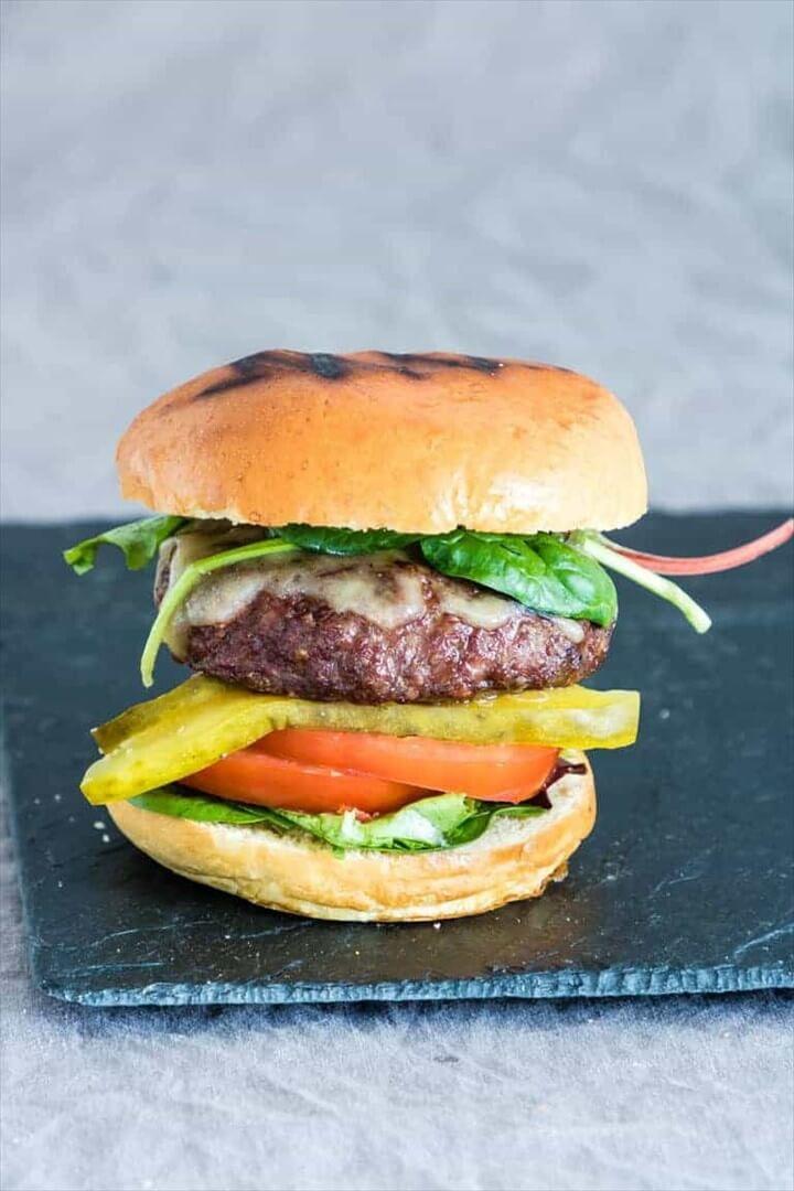 Easy Juicy Air Fryer Hamburgers