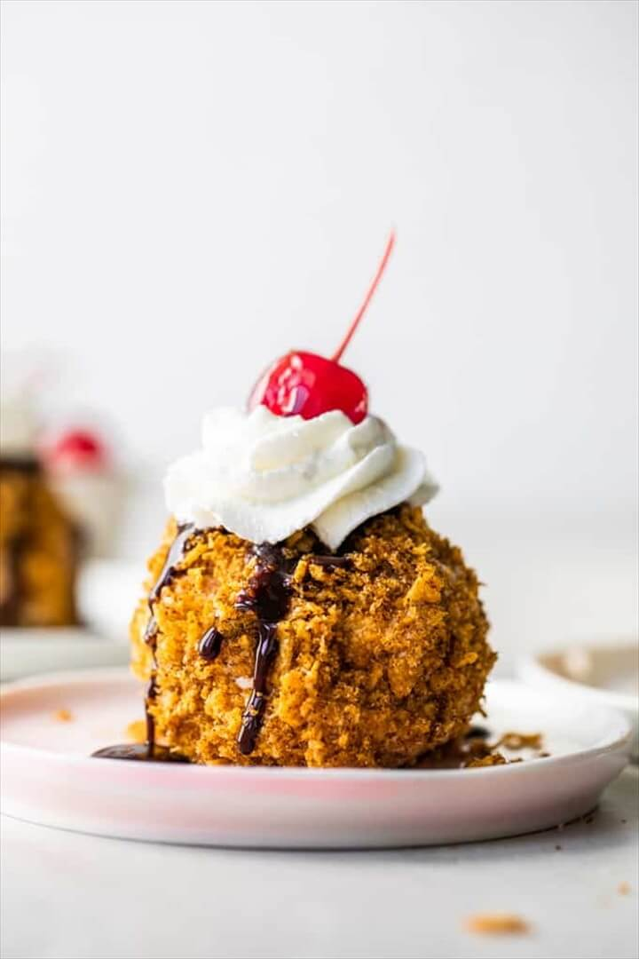 Easy Mexican Fried Ice Cream