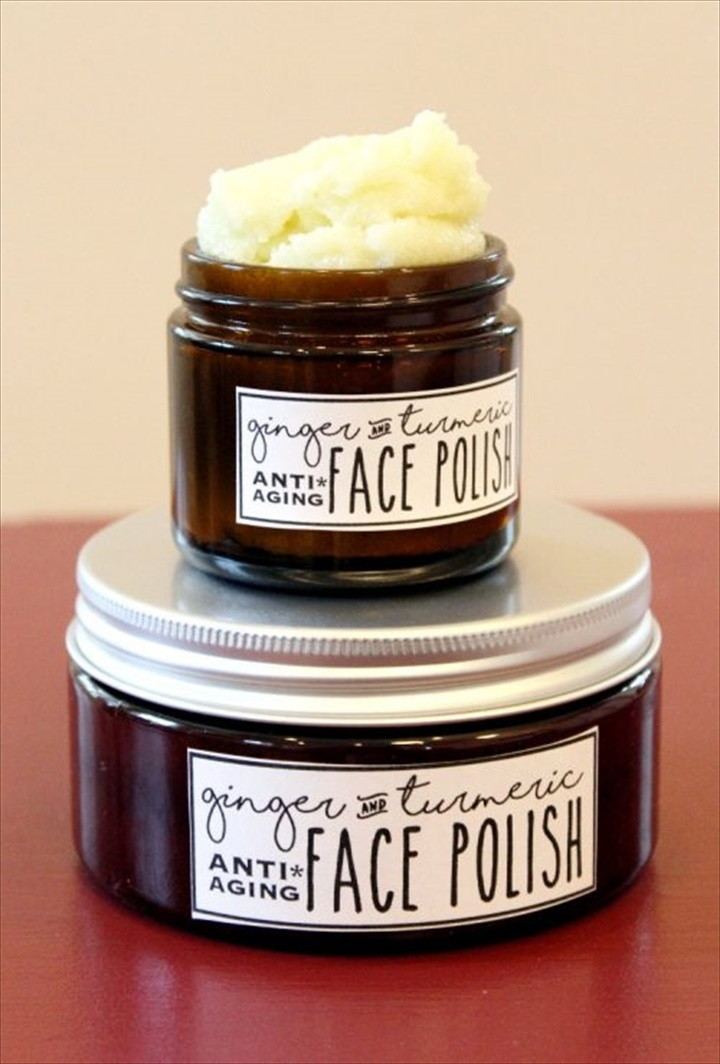 Foaming Ginger Turmeric Face Polish Recipe