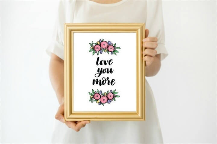 Free Mother's Day Printable Love You More