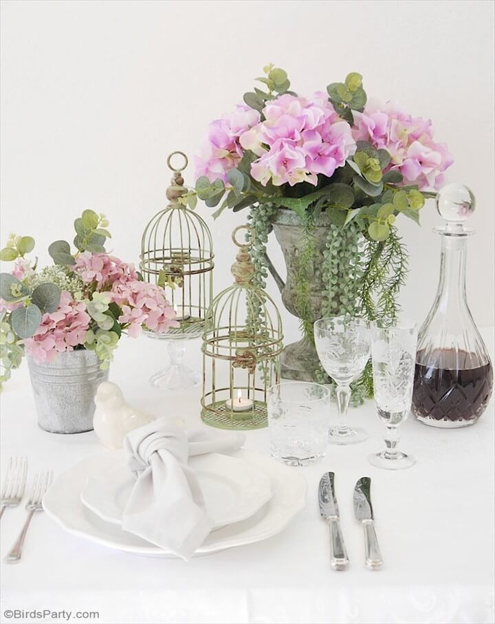 French Rustic Country Tablescape Using Thrift Store Items