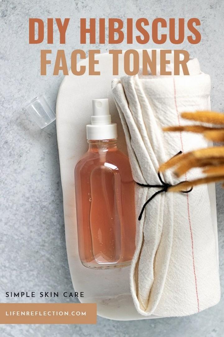 Hibiscus DIY Toner Anti Aging Skin Care Hack