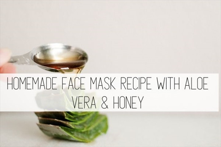 Homemade Face Mask Recipe With Aloe Vera Honey