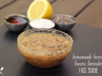 Homemade Honey Lemon Lavender Face Scrub