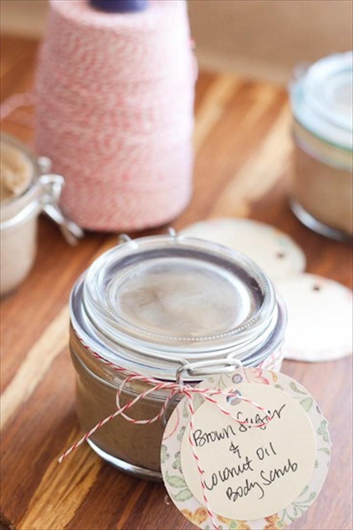Homemade Sugar Scrub with Brown Sugar and Coconut Oil