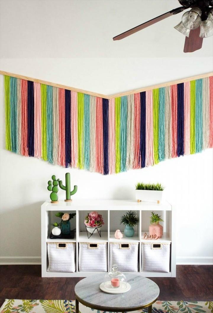 How To Make A DIY Yarn Wall Hanging