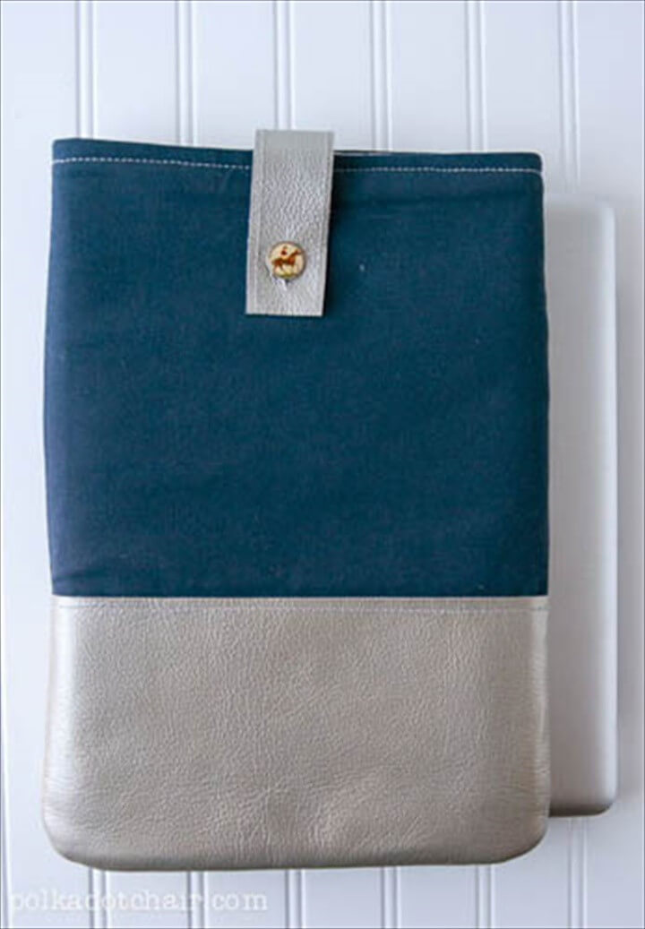 How To Make A Leather Trimmed Laptop Case