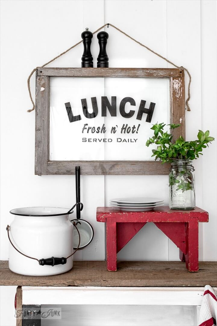 How To Make A Lunch Sign On An Old Window