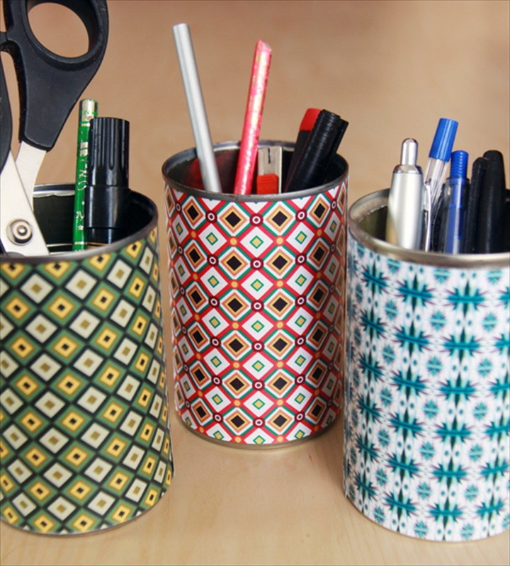 How To Make Colorful Desk Organizers