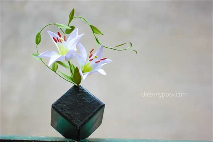 How To Make Lily Paper Flower From Copier Paper
