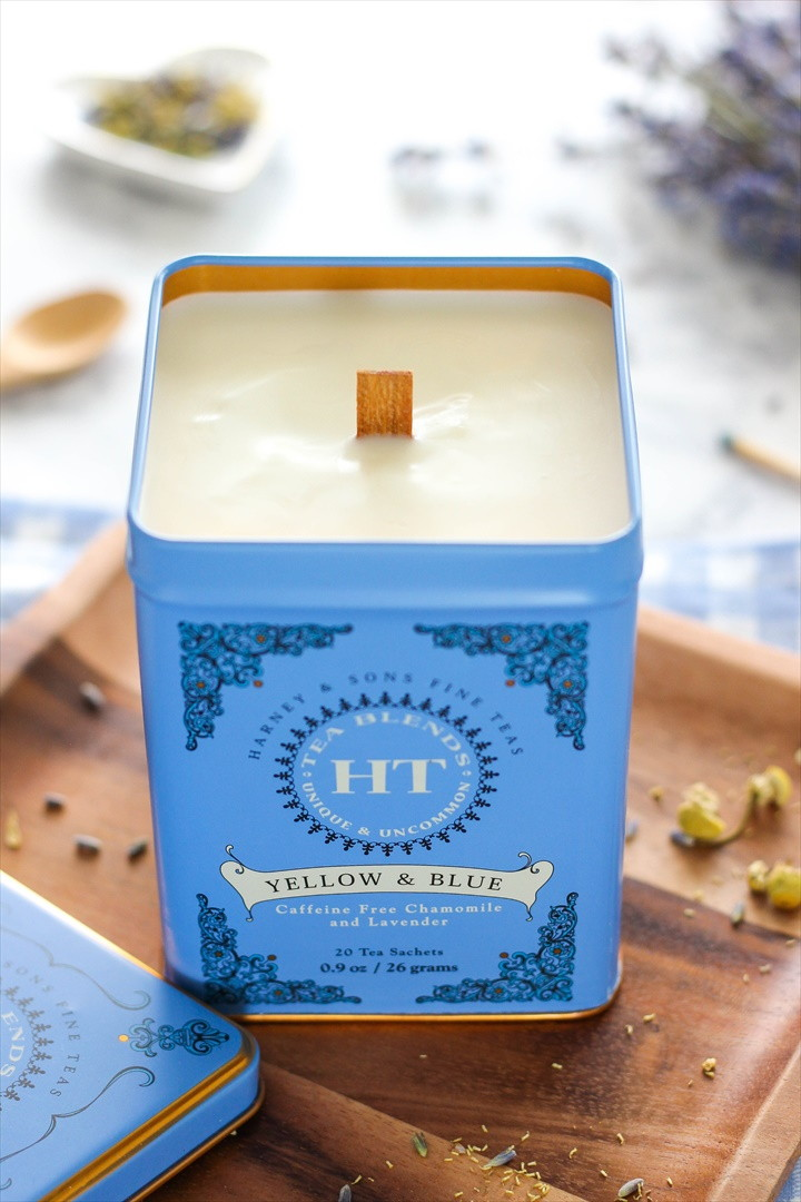 How To Make Pretty Tea Infused Scented Candles In A Tin