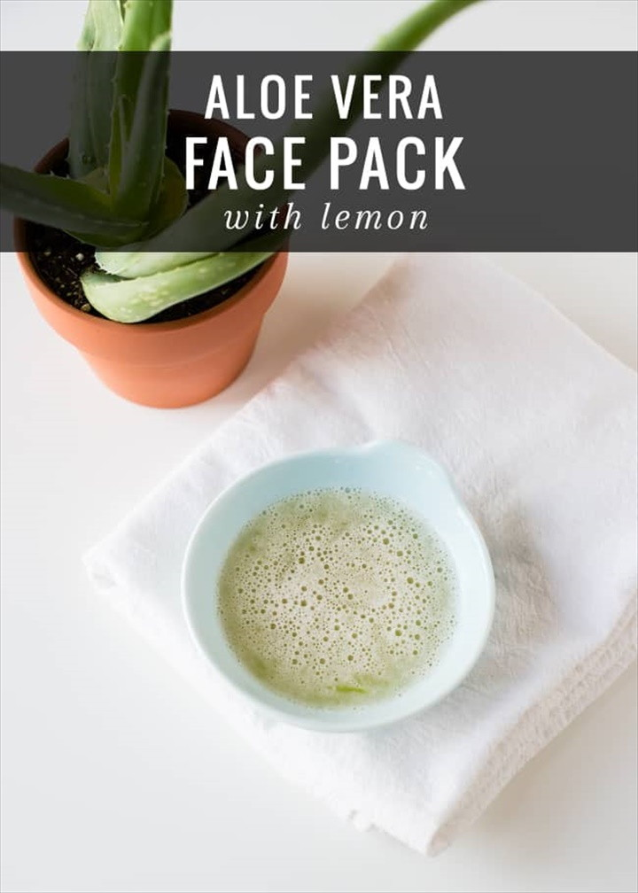 How To Make an Aloe Vera Face Pack with Lemon