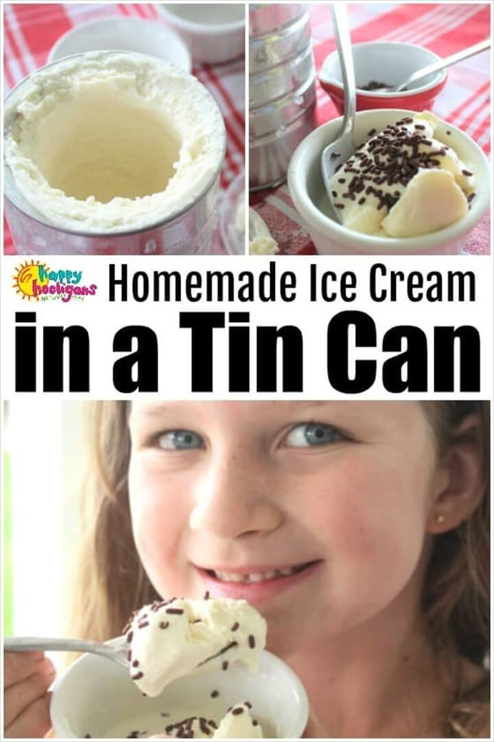 How to Make Homemade Ice Cream In a Tin Can