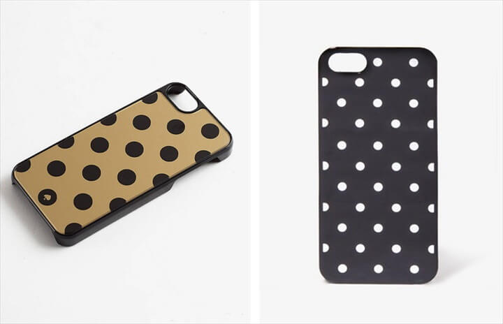 Kate Spade Inspired Metallic Polka Dot Phone Case