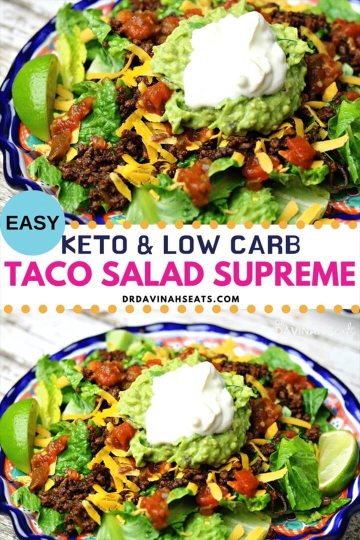 Keto Taco Salad Supreme Recipe