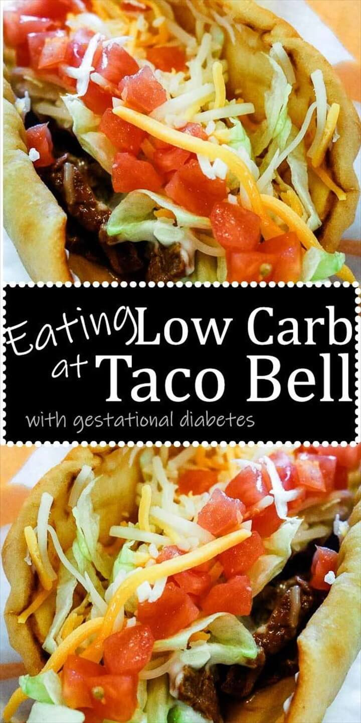 Low Carb Taco Bell for Gestational Diabetes