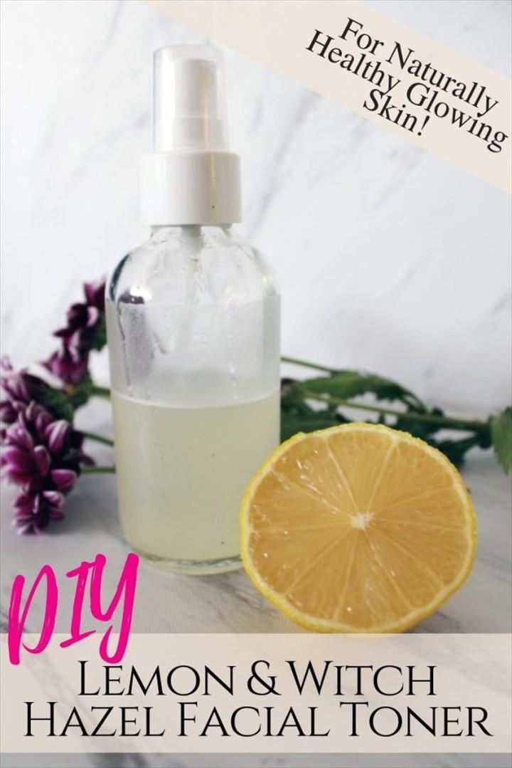 Make This DIY Witch Hazel Lemon Skin Toner