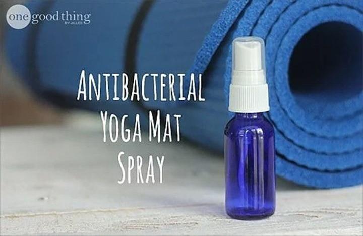 Make Your Own Antibacterial Yoga Mat Spray