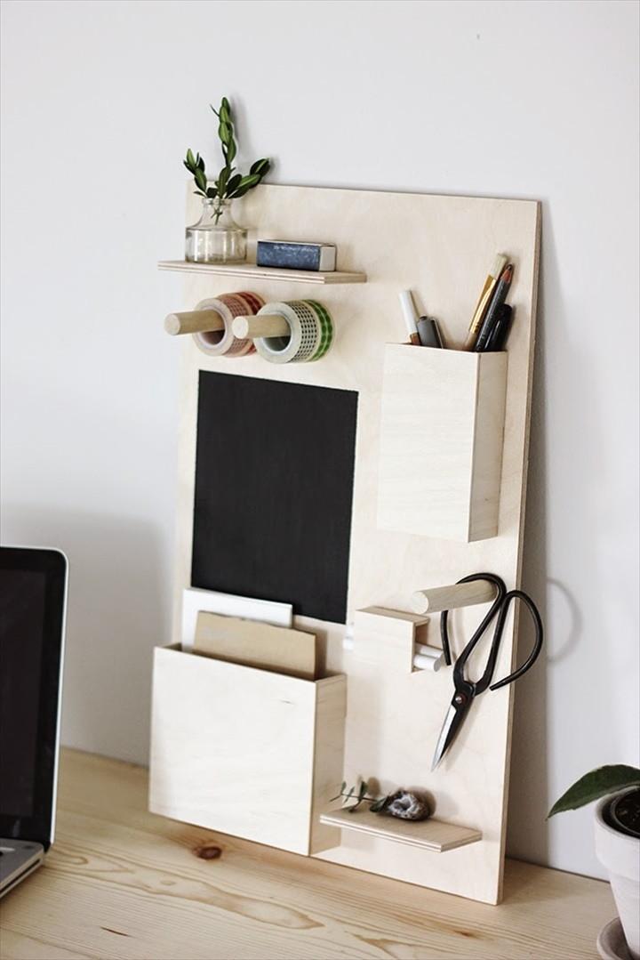 Make a DIY Desk Organizer