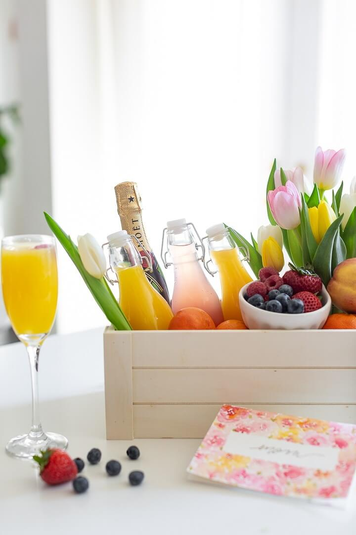 Mimosa Gift Basket for Mother's Day