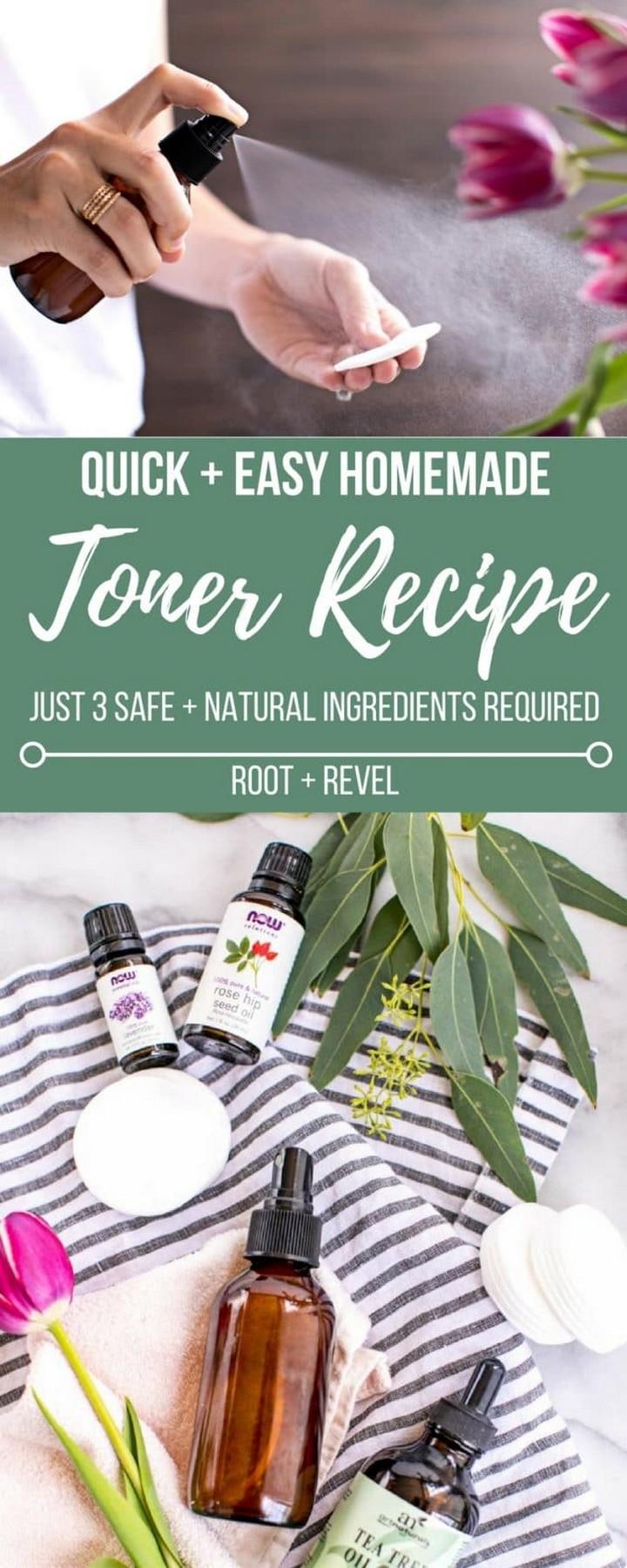 Natural 3 Ingredient DIY Face Toner 1