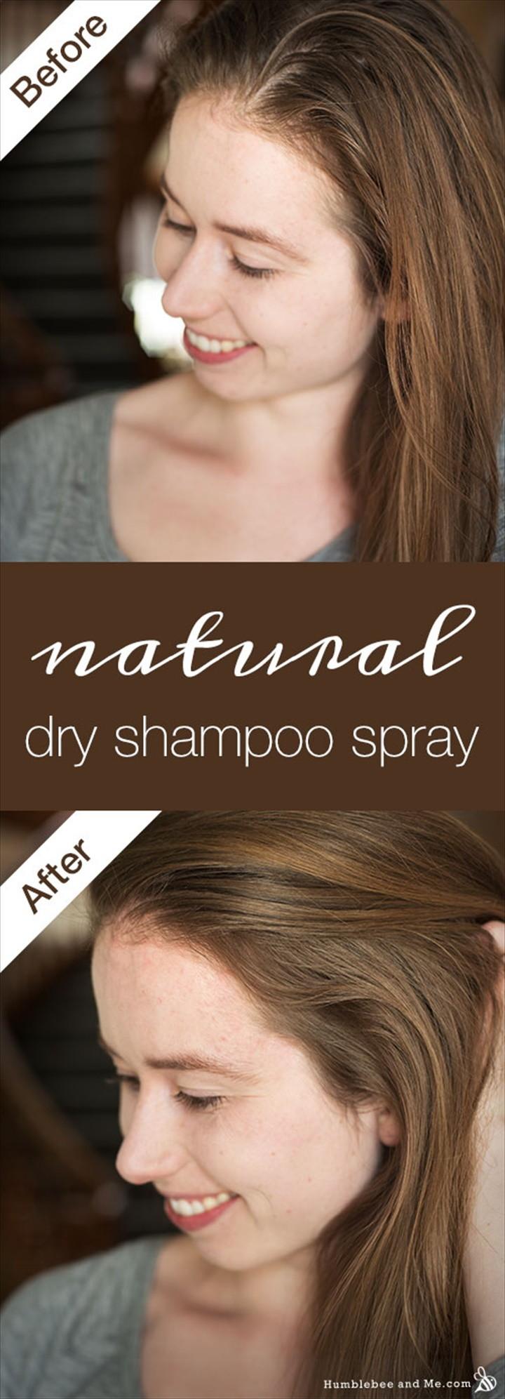 Natural Dry Shampoo Spray