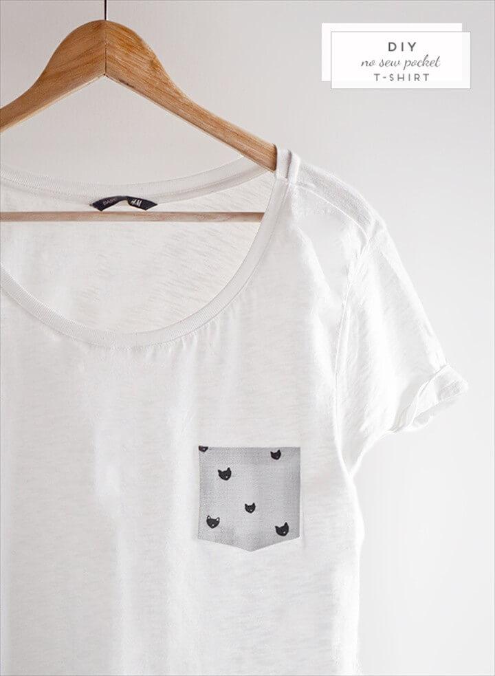 No Sew Pocket T shirt