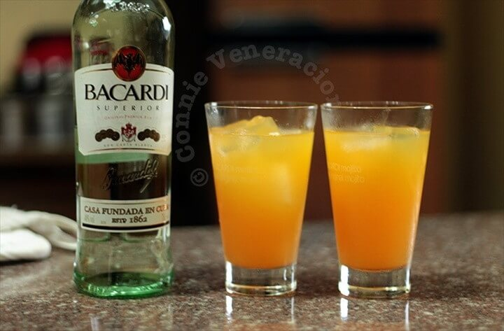 Orange Pineapple And Rum Cocktail