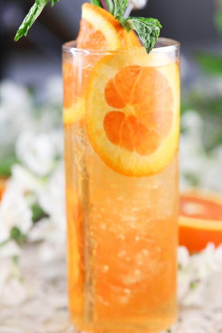 Orange Rum Sunset Cocktail