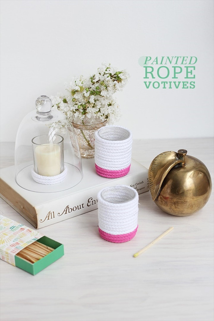 Painted Rope Votives