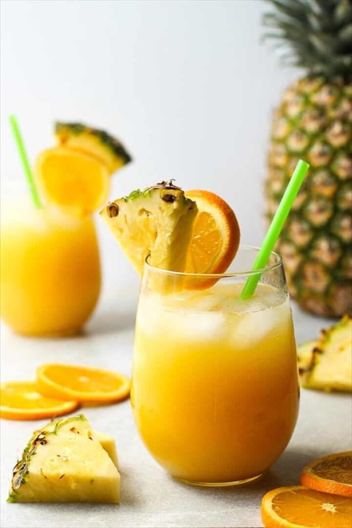 Pineapple Orange Coconut Rum Cocktail