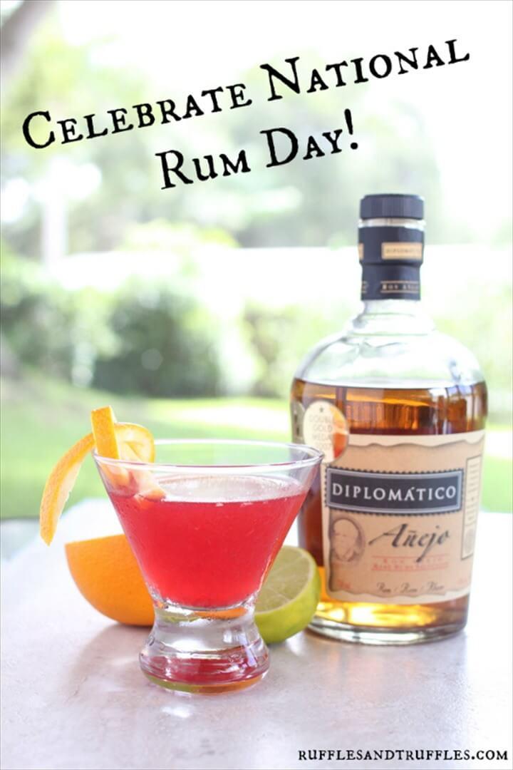 Raspberry Orange Rum Cocktail For National Rum Day