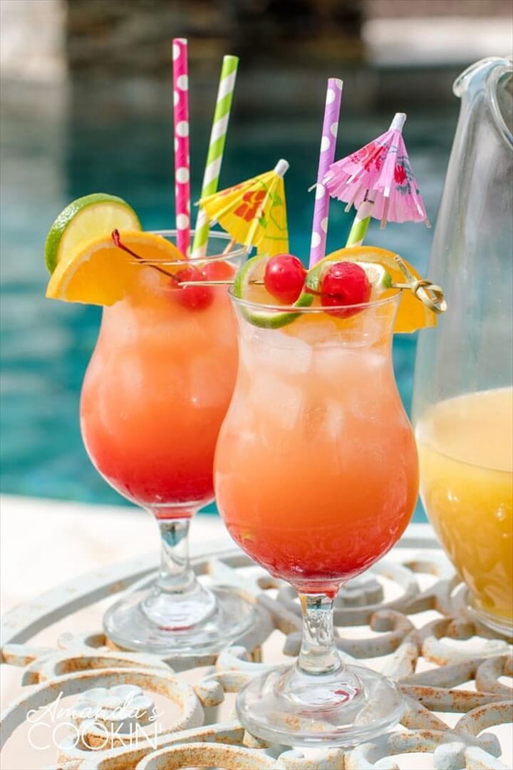 Rum Punch With Orange