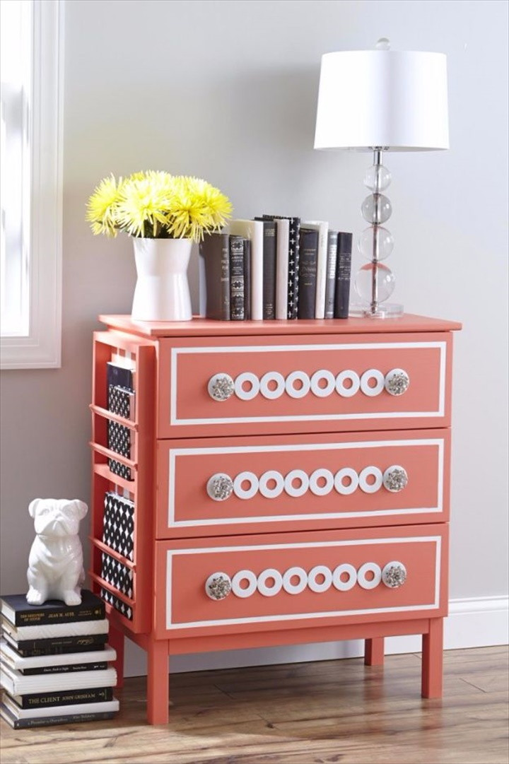 Silver Washers Nightstand
