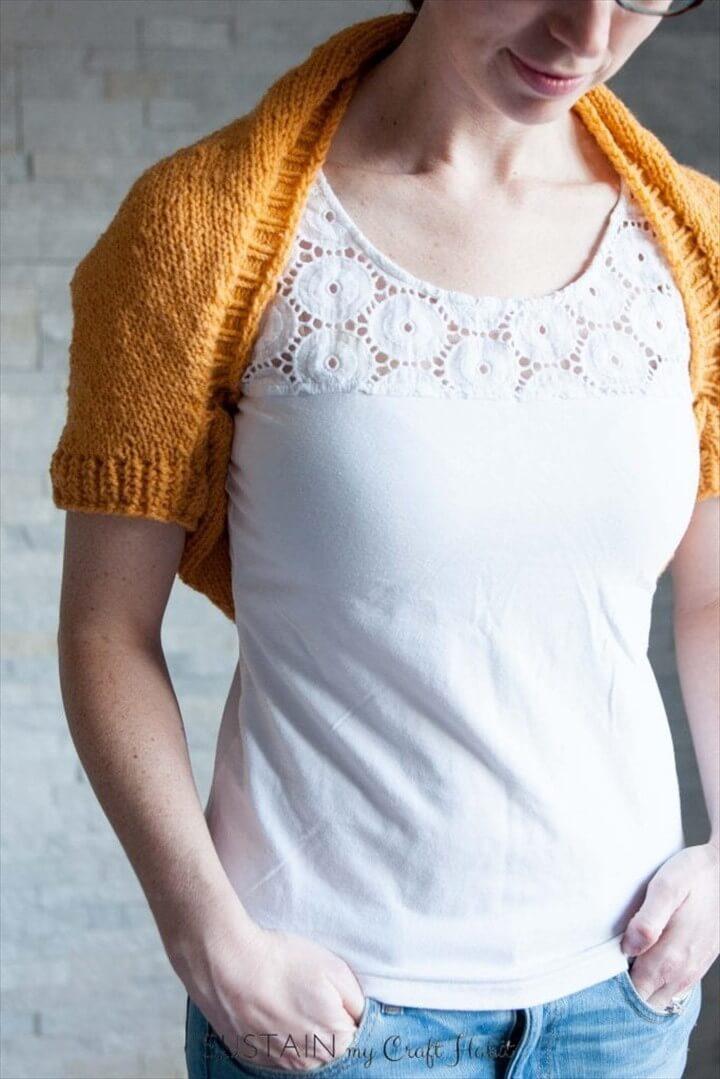 Simple Sunrise Knitted Shrug Pattern
