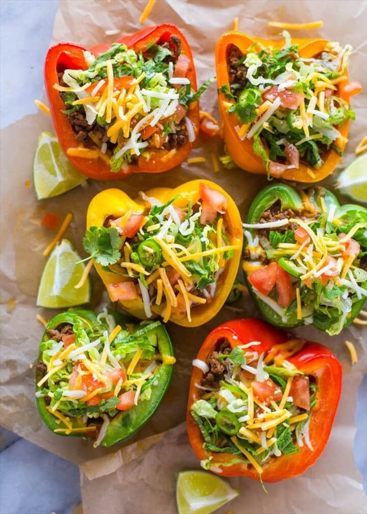 Skinny Low Carb Bell Pepper Tacos