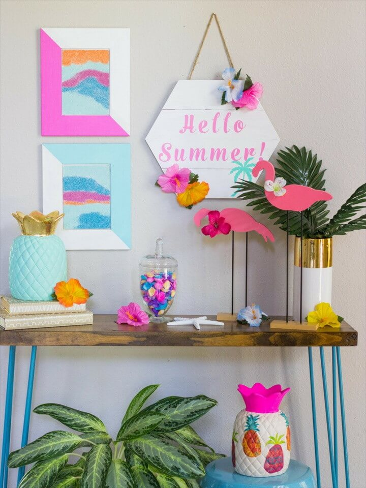 Summer Decorated Foyer Ideas