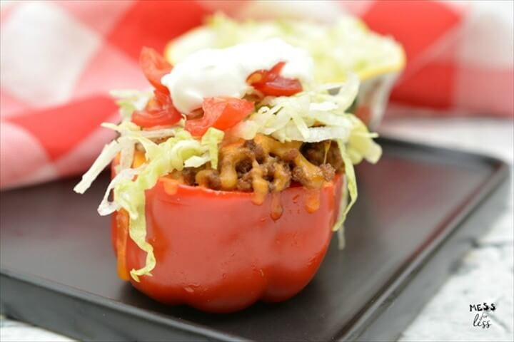 Taco Stuffed Peppers Low Carb