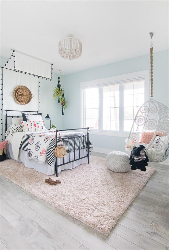 Tween Girl Beachy Boho Bedroom