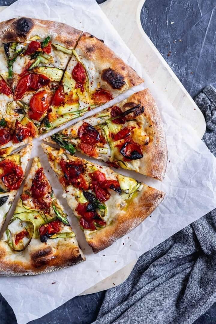 Vegan Pizza Primavera