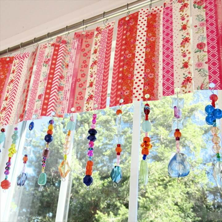 Washi Tape Window Valance