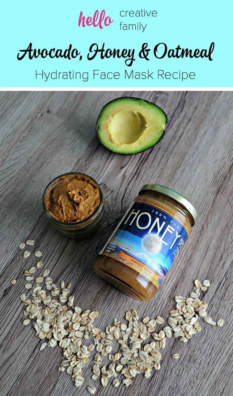 Avocado Honey and Oatmeal Hydrating Face Mask Recipe