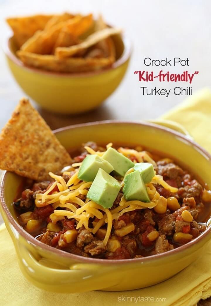 Crock Pot Kid Friendly Turkey Chili